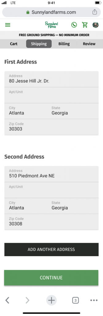 Ability to add additional addresses