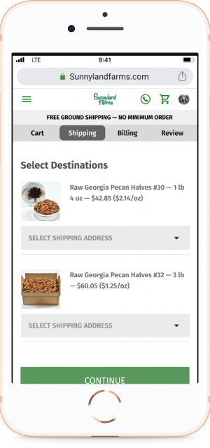 Shipping Select w device